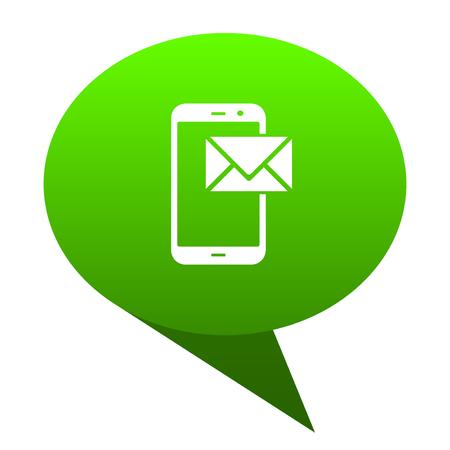mail green bubble web icon