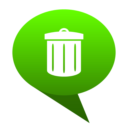 recycle green bubble web icon