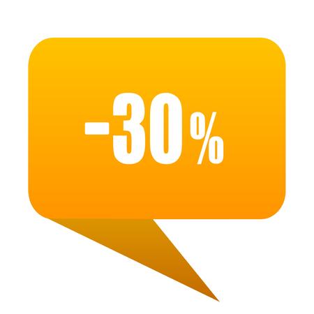 30 percent sale retail orange bulb web icon isolated. Stock Photo