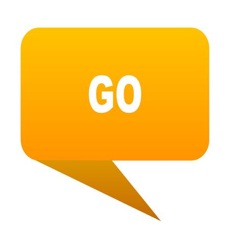go orange bulb web icon isolated.