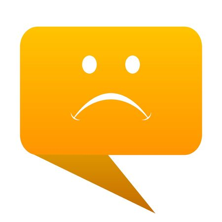 cry orange bulb web icon isolated.