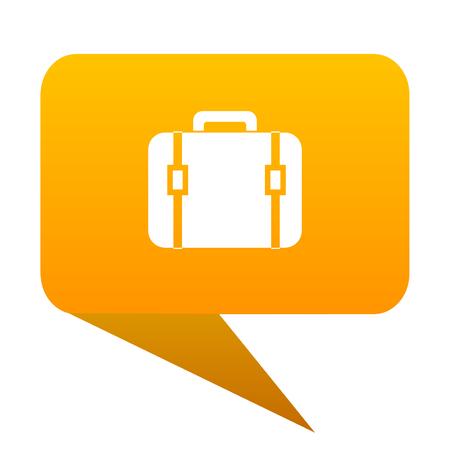 bag orange bulb web icon isolated. Stock Photo