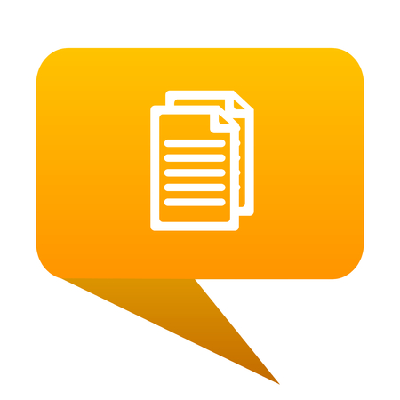 Document orange bulb web icon isolated. Stock Photo