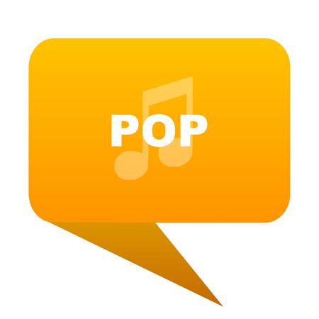 pop music orange bulb web icon isolated.