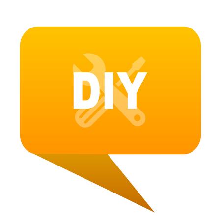 diy orange bulb web icon isolated.