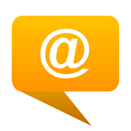 email orange bulb web icon isolated. Stock Photo