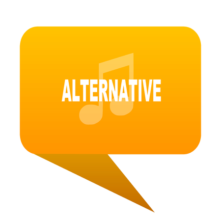 alternative music orange bulb web icon isolated. Stock Photo