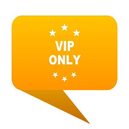 members only: vip only orange bulb web icon isolated. Stock Photo