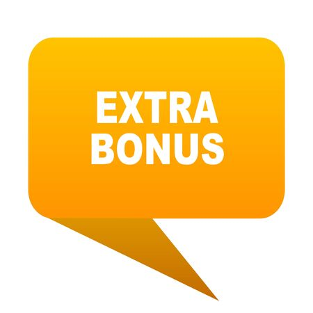 extra bonus orange bulb web icon isolated.