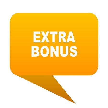 discounting: extra bonus orange bulb web icon isolated.