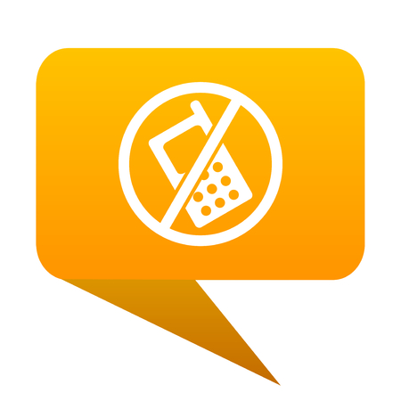no phone orange bulb web icon isolated.