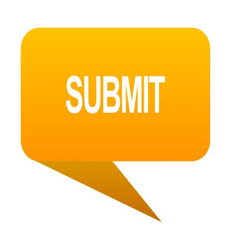 submit: submit orange bulb web icon isolated. Stock Photo