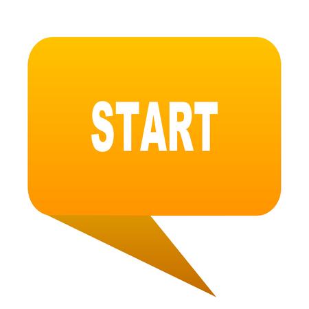 start orange bulb web icon isolated. Stock Photo