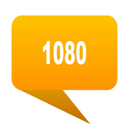 1080 orange bulb web icon isolated.
