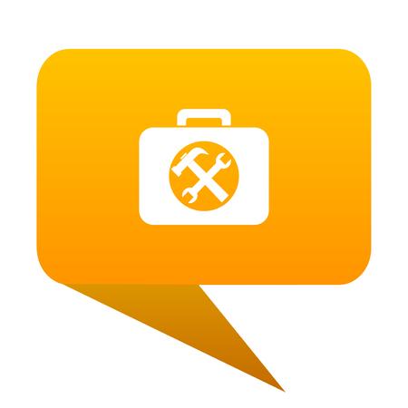 toolkit orange bulb web icon isolated.