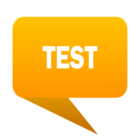test orange bulb web icon isolated. Stock Photo