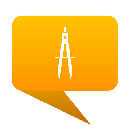 Learning orange bulb web icon isolated. Stock Photo