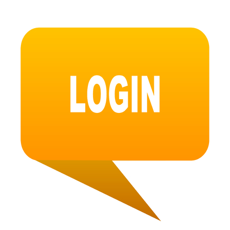 login orange bulb web icon isolated.
