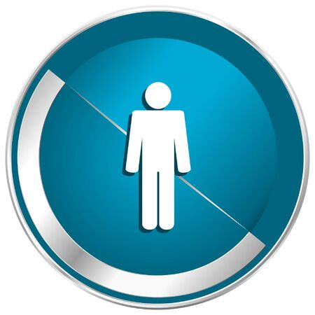 Male blue vector icon.