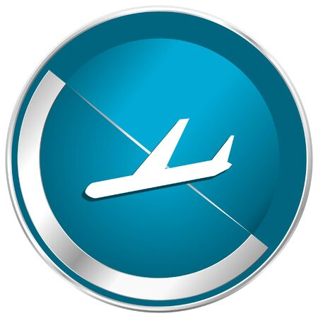 Arrivals blue vector icon.