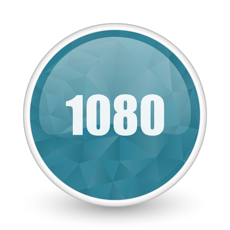 brillant: 1080 brillant crystal design round blue web icon.