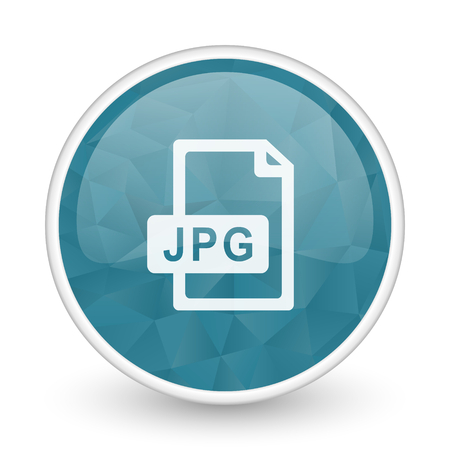 brillant: Jpg file brillant crystal design round blue web icon.