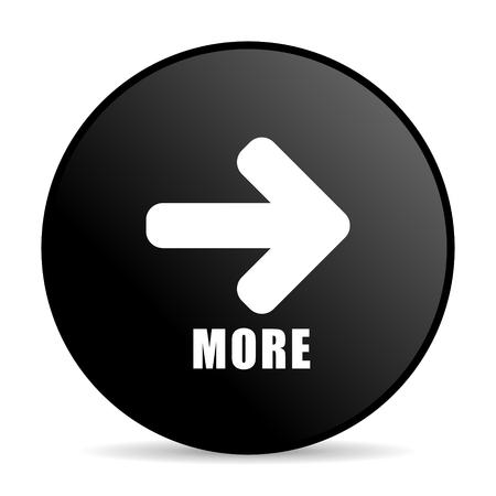 More black color web design round internet icon on white background. Stock Photo
