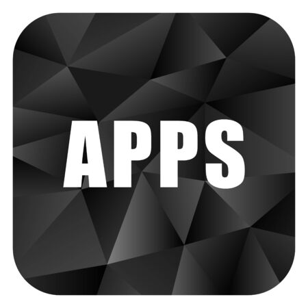 brillant: Apps black color web modern brillant design square internet icon on white background.