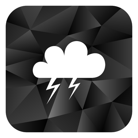 Storm black color web modern brillant design square internet icon on white background.