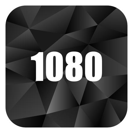 brillant: 1080 black color web modern brillant design square internet icon on white background.