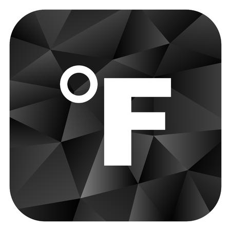 Fahrenheit black color web modern brillant design square internet icon on white background.