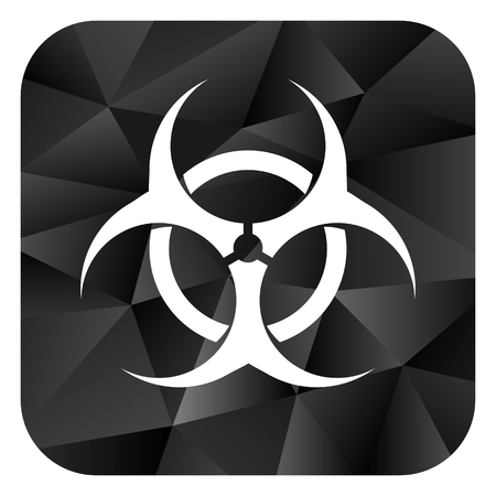 varez: Biohazard black color web modern brillant design square internet icon on white background.