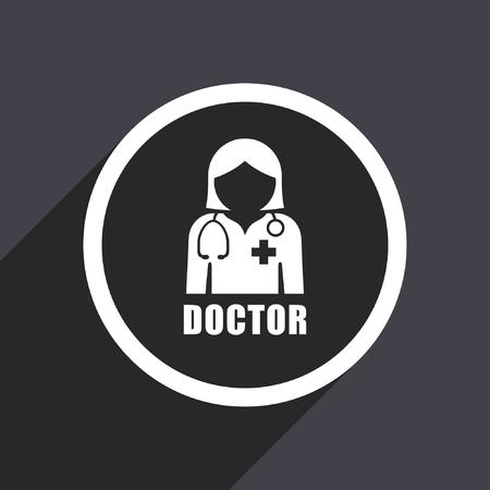 Doctor flat design vector icon. Ilustracja