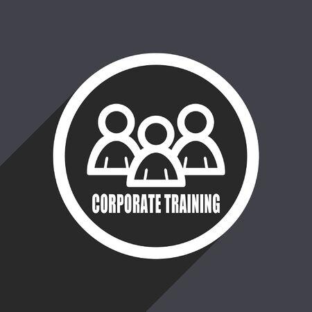 briefing: Corporate training flat design vector icon. Illustration