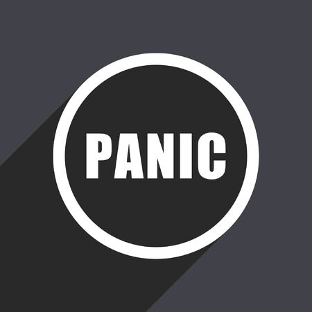 Panic flat design vector icon.