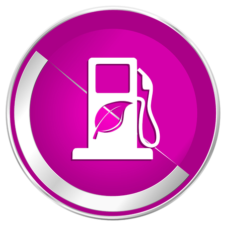lpg: Biofuel web design violet silver metallic border internet icon.