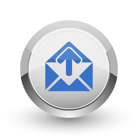 secretariat: Email chrome border web and smartphone apps design round glossy icon.