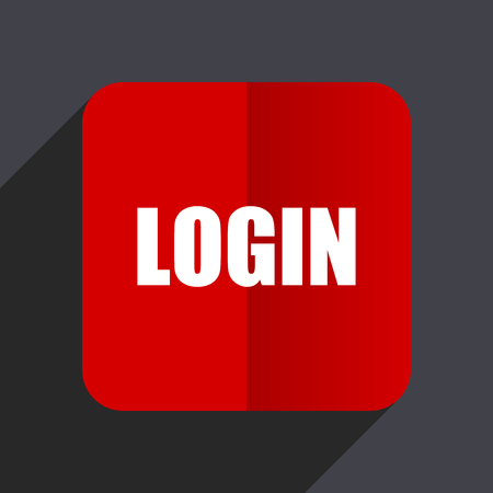 login flat design white and red vector web icon on gray background rh 123rf com red vector sign in RedVector OSHA