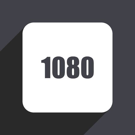 1080 flat design web icon isolated on gray background