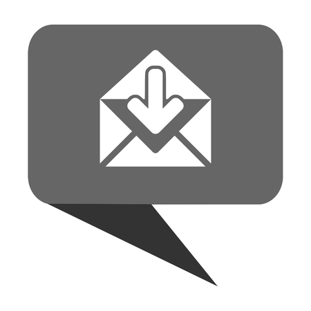 Email flat design web bubble vector icon.