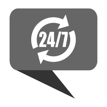 24: Service flat design web bubble vector icon. Illustration