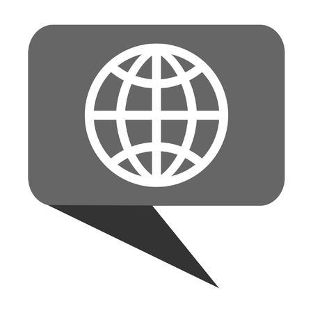 Erde flache Design Web-Blase Vektor-Symbol. Standard-Bild - 80498947