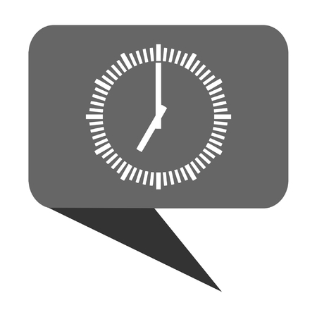 passing: Time flat design web bubble vector icon.