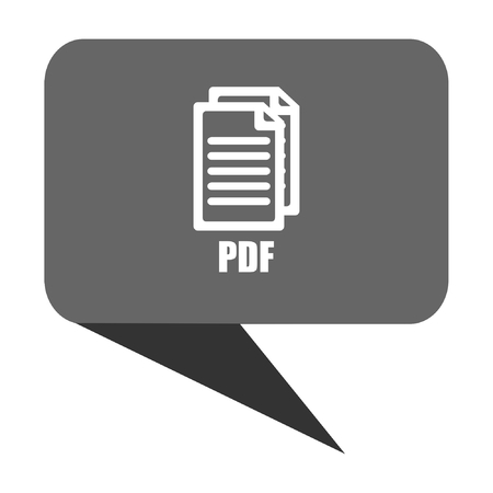 bibliography: Pdf flat design web bubble vector icon.,