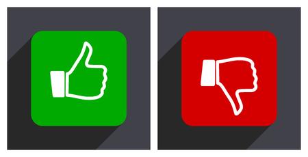 Like dislike icon. Vector illustration.