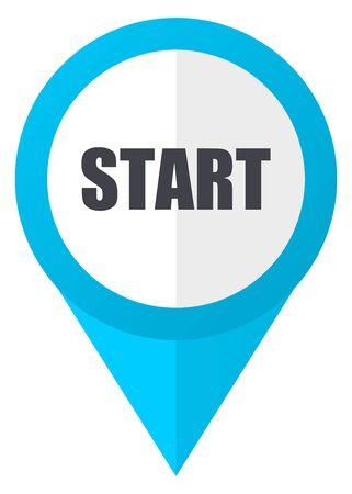 Start blue pointer icon