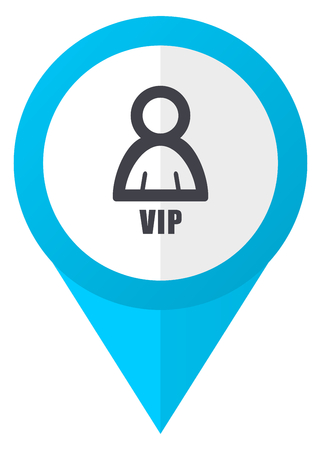 Vip blue pointer icon