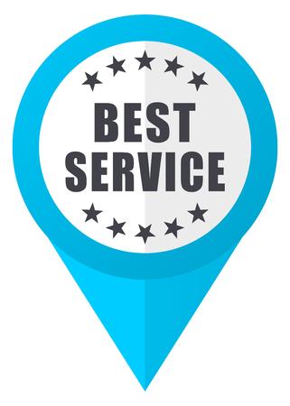 Best service blue pointer icon Stock Photo
