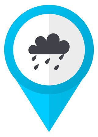 Rain blue pointer icon