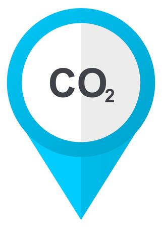 Carbon dioxide blue pointer icon Stock Photo